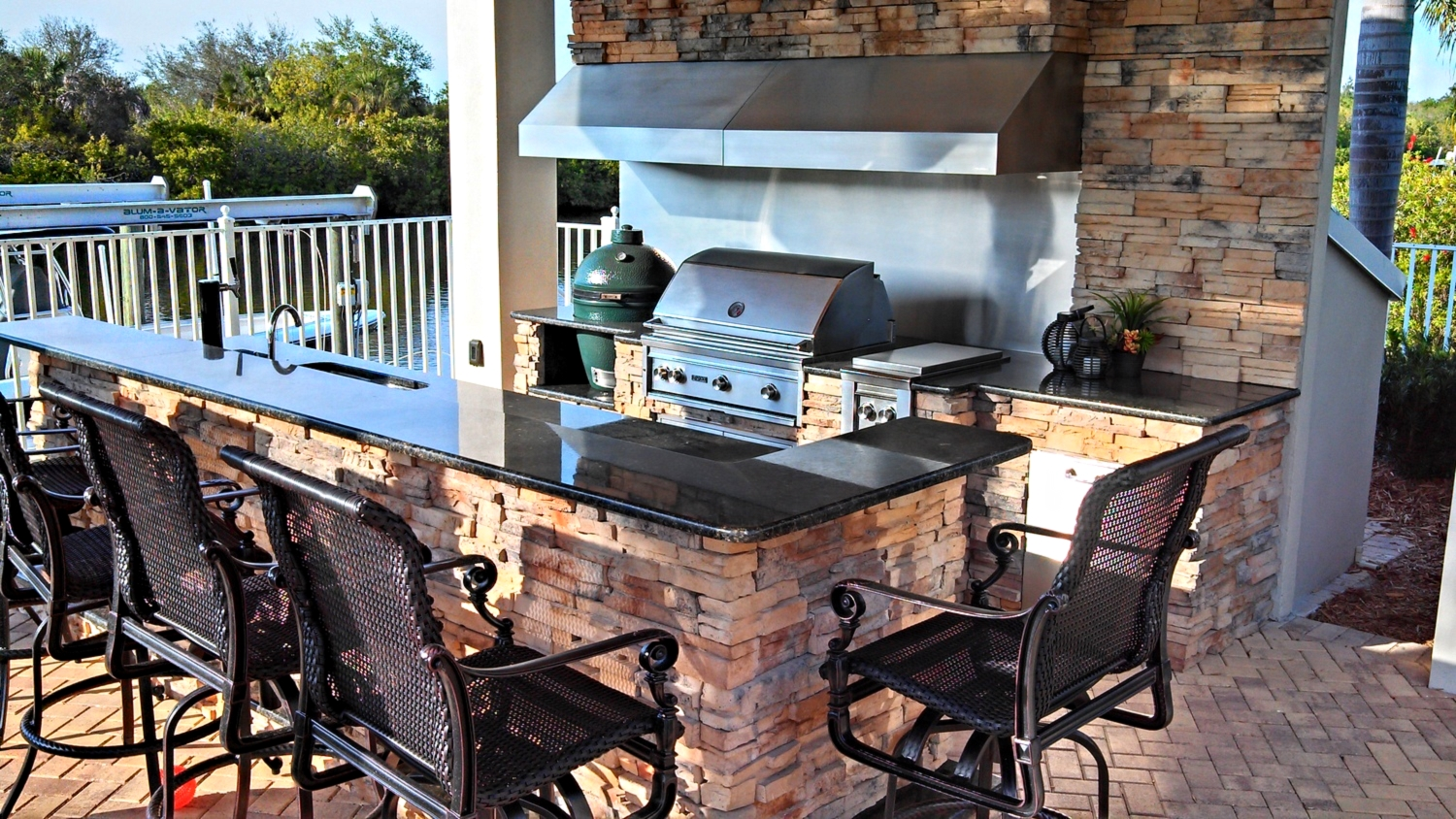 outdoor kitchen bar colorful table 6 beautiful bars premier living design tampa fl fully equipped