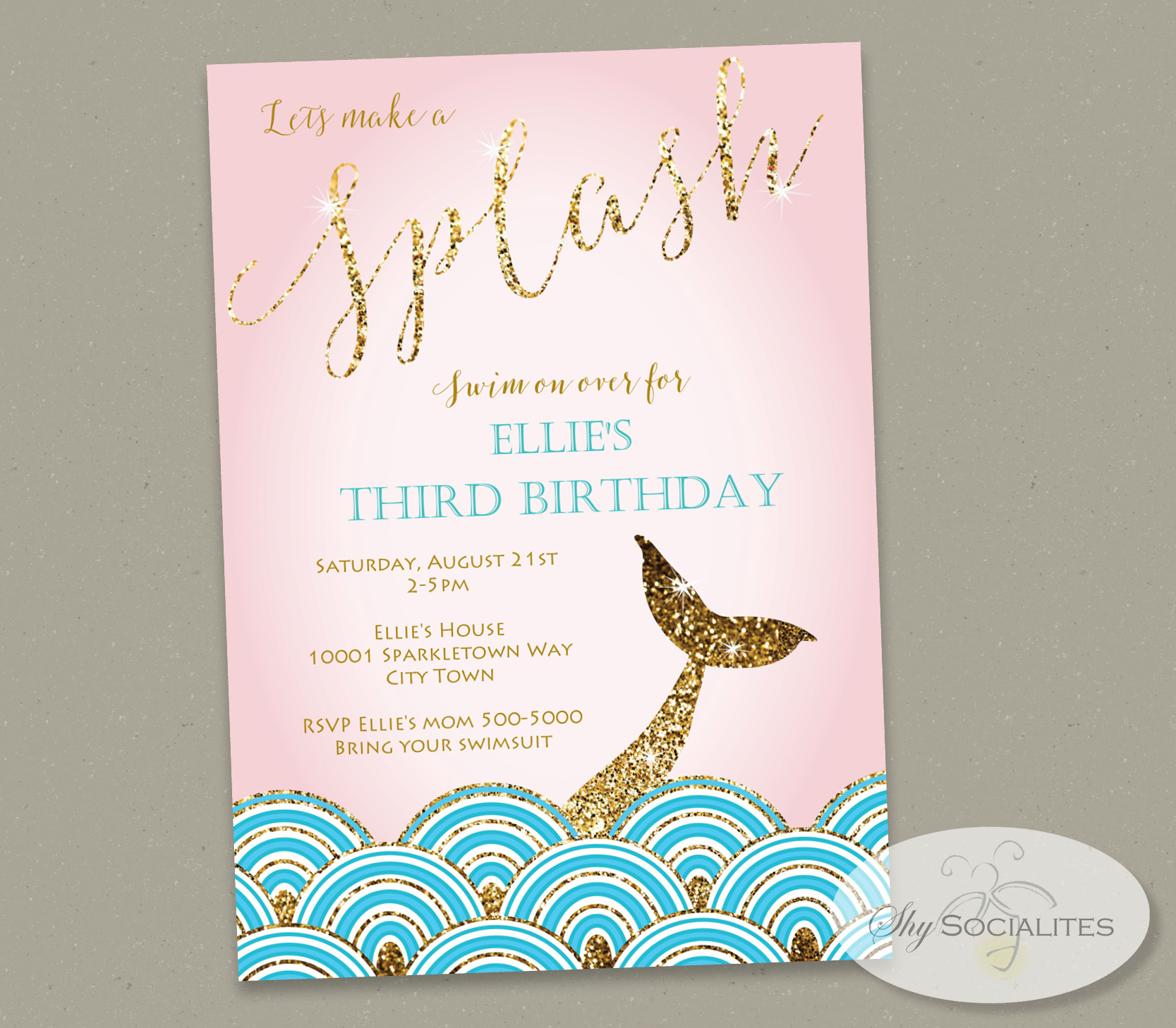 Custom Made Birthday Invitations