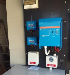 24v dc coupled off grid solar system with 2 x victron bluesolar charge controllers  [ 808 x 1078 Pixel ]