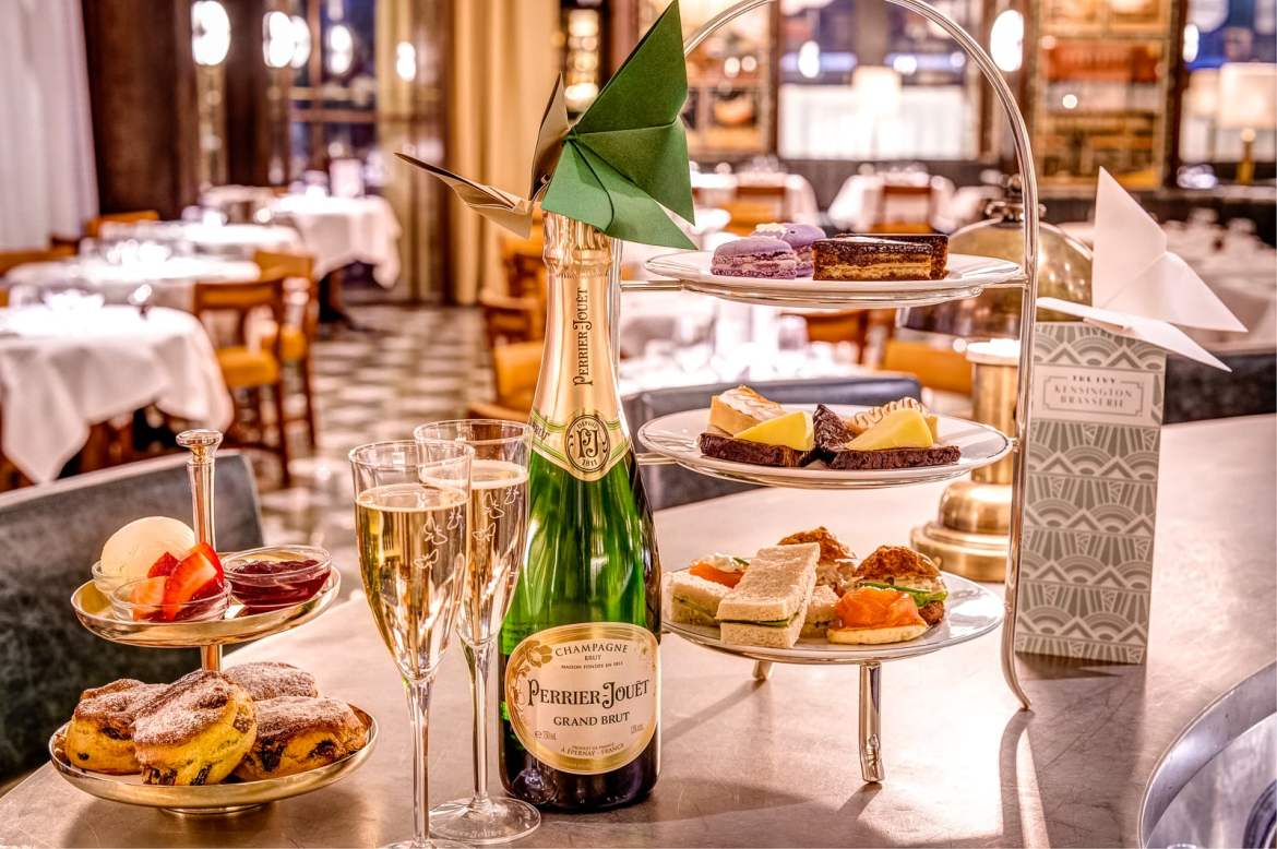 "In the lead up to Valentine's Day, The Ivy Kensington Brasserie has partnered with prominent champagne house Perrier-Jouët to create ""Butterfly Kisses"" – the ultimate romantic Champagne Afternoon Tea."
