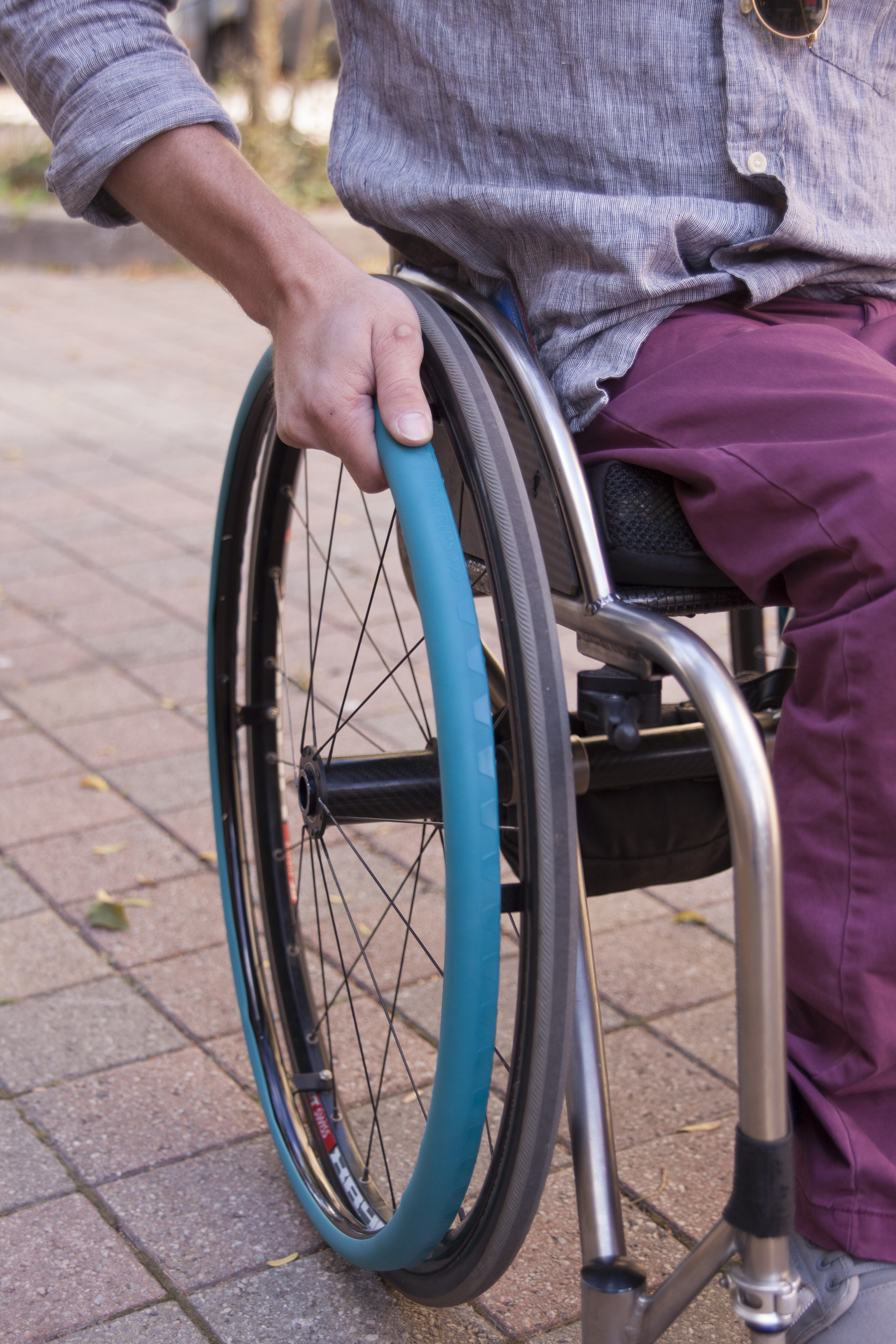 wheelchair grips rocking reclining chair fit intelliwheels designed to your hand and budget are perfect for anyone looking push their with more comfort ease