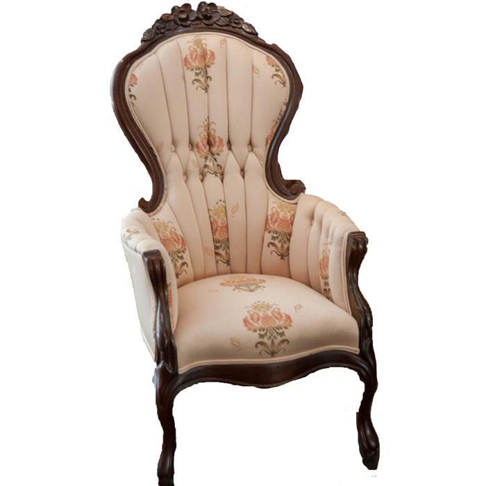 floral arm chair black and white striped desk vintage armchair rentquest cha 042 jpg