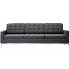 Loft Charcoal Sofa Bed Set Online Within 20000 Button Rentquest Sof 010 Gry Jpg