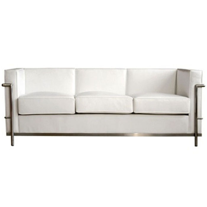 steel frame sofa thomasville ashby sleeper white cubed with rentquest sof 033 jpg