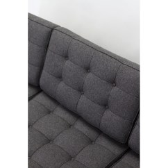 Loft Charcoal Sofa Bed Sure Fit Textured Tweed One Piece Slipcover Button Rentquest