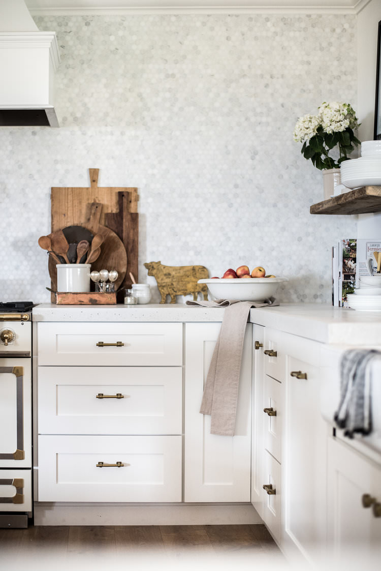 brass kitchen pulls stainless steel prep table classic cabinet hardware from the home depot boxwood avenue drawer in white farmhouse boxwoodavenue com