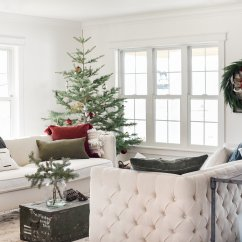 Beautiful Living Rooms At Christmas Artwork For Room Farmhouse Decor Tree Ideas Boxwood Avenue With Vintage Decorations On Minimal Live From Boxwoodavenue Com