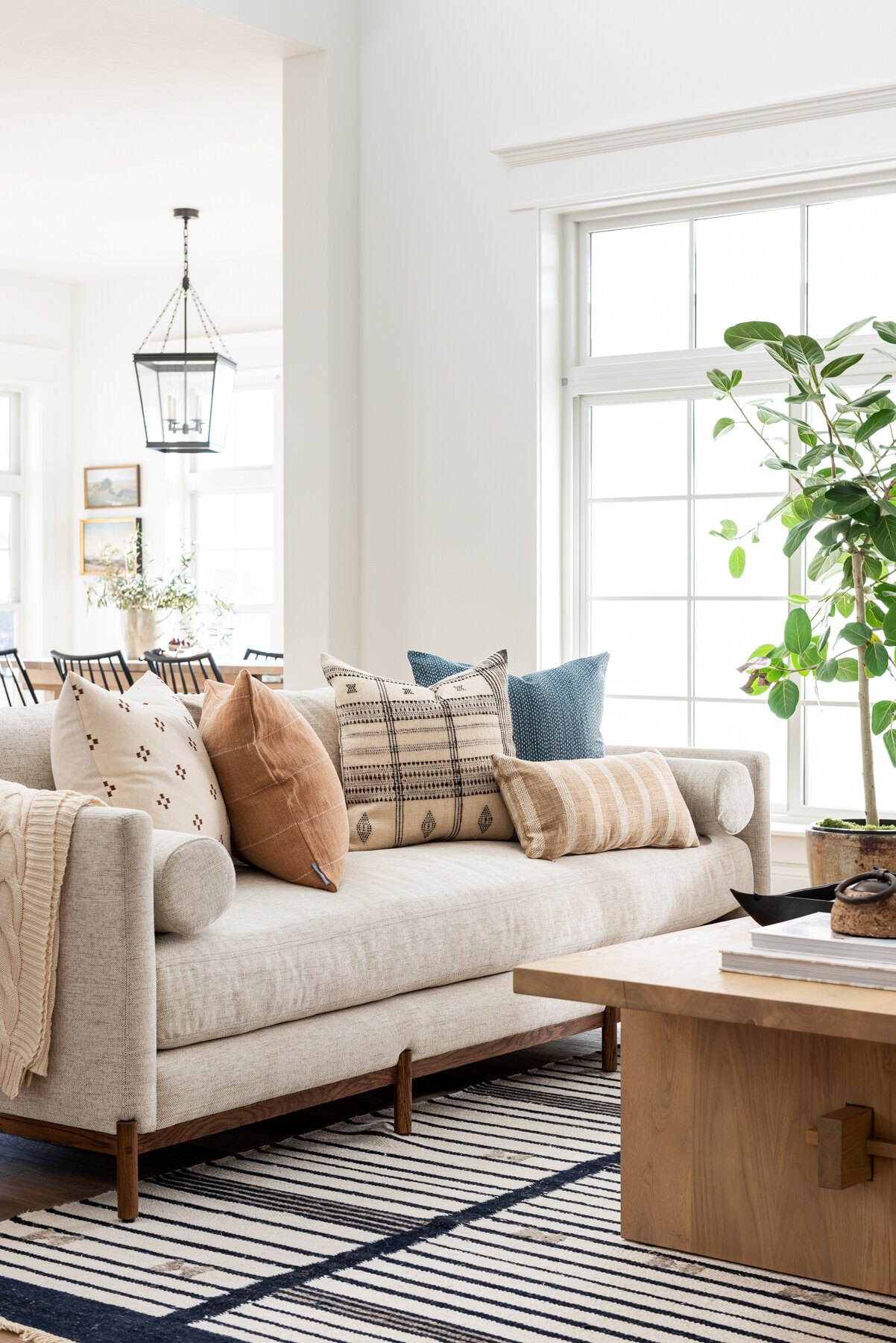 living room design ideas grey couch paint with dark furniture how to mix & match pillows — studio mcgee