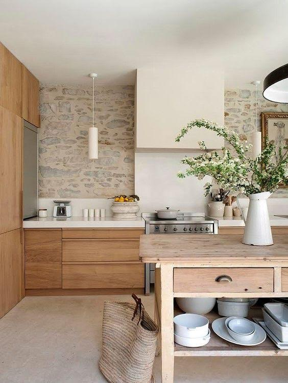 kitchen wood cabinets utensil organizer natural why we can t get enough combined this built in with a matte black ladder and lots of warm texture the furniture accessories to give our modern mountain home