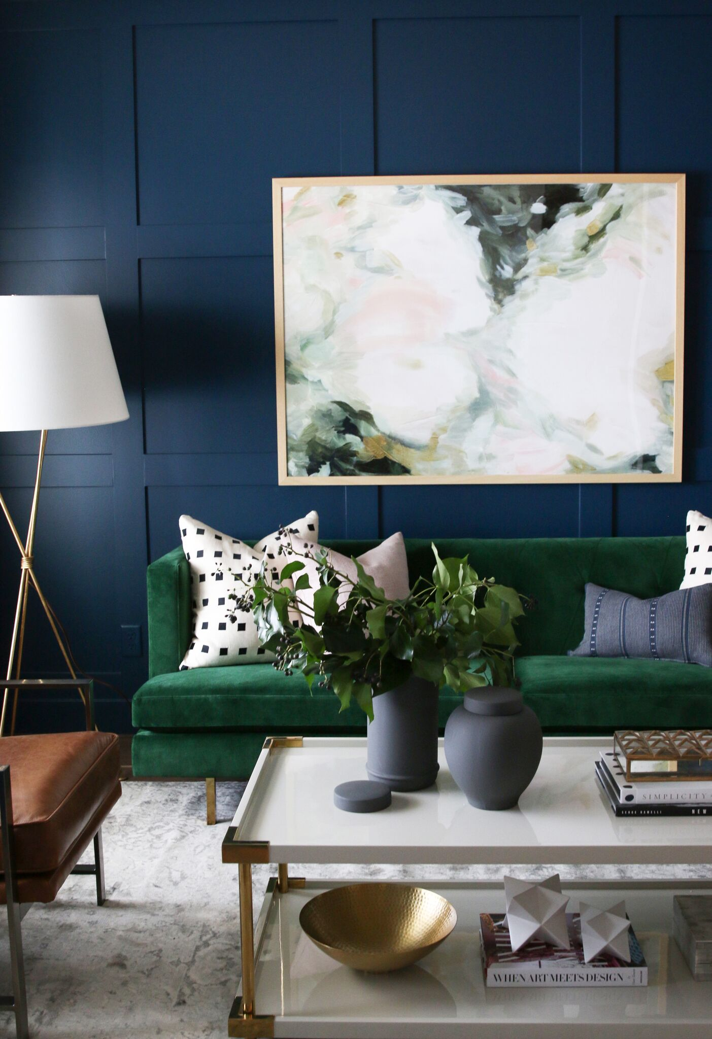 living room outlet mid century modern chairs for formal sitting webisode it s a deep blue with hint of green that moody and romantic we painted from the baseboard to ceiling even covers