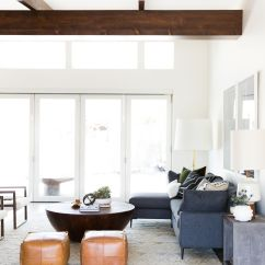 Mid Century Modern Living Room Sizes Of Area Rugs For Project Reveal With Natural Wood Beams
