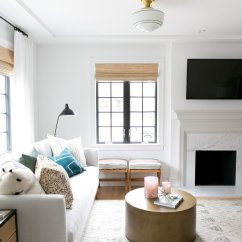 Living Room Fireplace Off Centered Window Dressing Ideas For Rooms 3 Unconventional Design Solutions Would Look Like A Postage Stamp In The Space And Wouldn T Tie Together Lastly We Front Of Windows To Add Balance