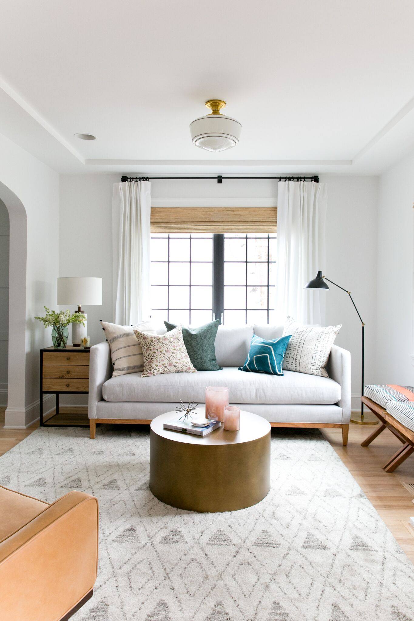 Bright Eclectic Living Room