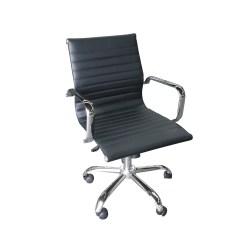 Office Chair Rental Wingback Club Chairs Metro Furniture Inc Black Ribbed Swivel Jpg