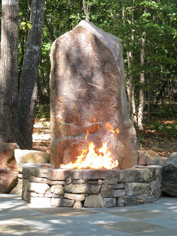 The Fire Pit Elevated  European Stone Masonry LLC