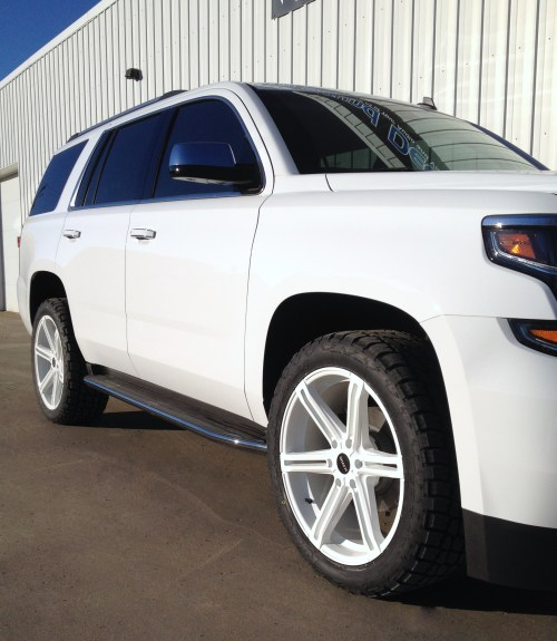 small resolution of 2015 chevy tahoe custom powder coated 22 kmc faction wheels