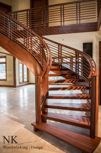 Curved Staircase | Stair Gallery  NK Woodworking & Design