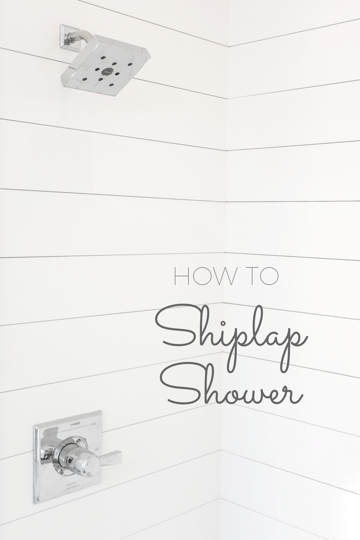 How to Install Shiplap In A Shower (and be the coolest
