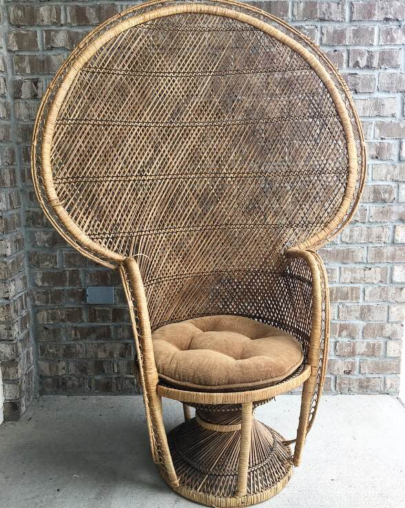 vintage peacock chair all modern leather dining chairs cushioned savannah and antique furniture jpg