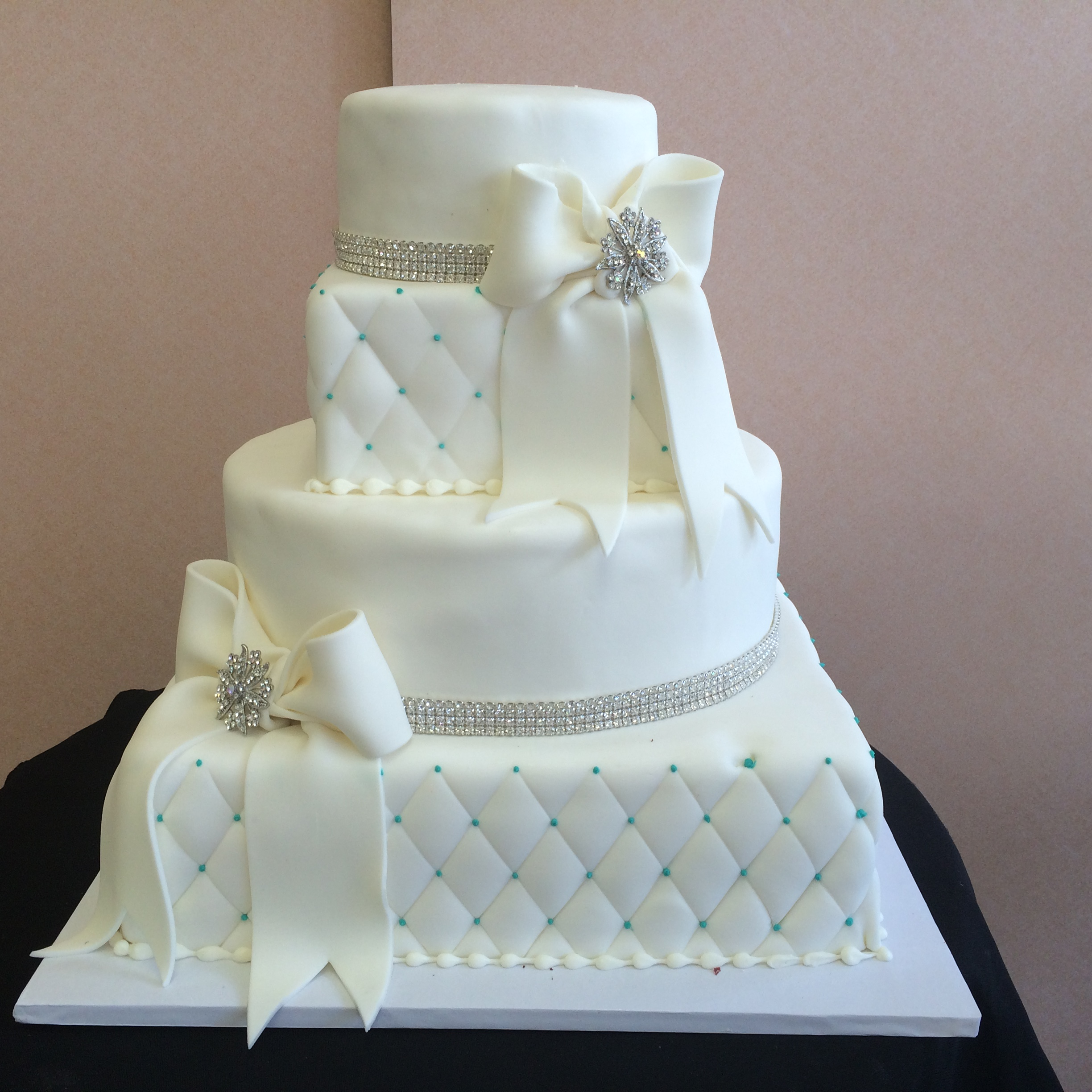 Contemporary Wedding Cakes Sal Amp Doms Pastry Shop