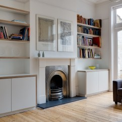 Custom Living Room Furniture City Sets Muswell Hill London Wide View Of Bespoke Cabinets And Units