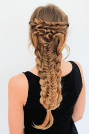 layered braid hairstyle tutorial