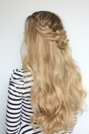 romantic hairstyle - flower