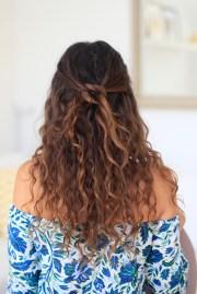 easy hairstyles curly hair