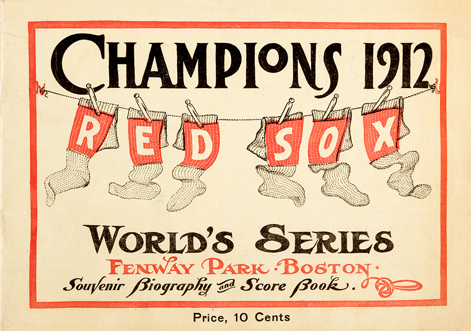 boston red sox 1912 world series souvenir book vintage baseball poster museum outlets