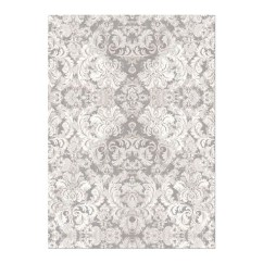 Gray Kitchen Towels Full Cabinets Decorative Towel Michel Early Grey White Brocade Museum