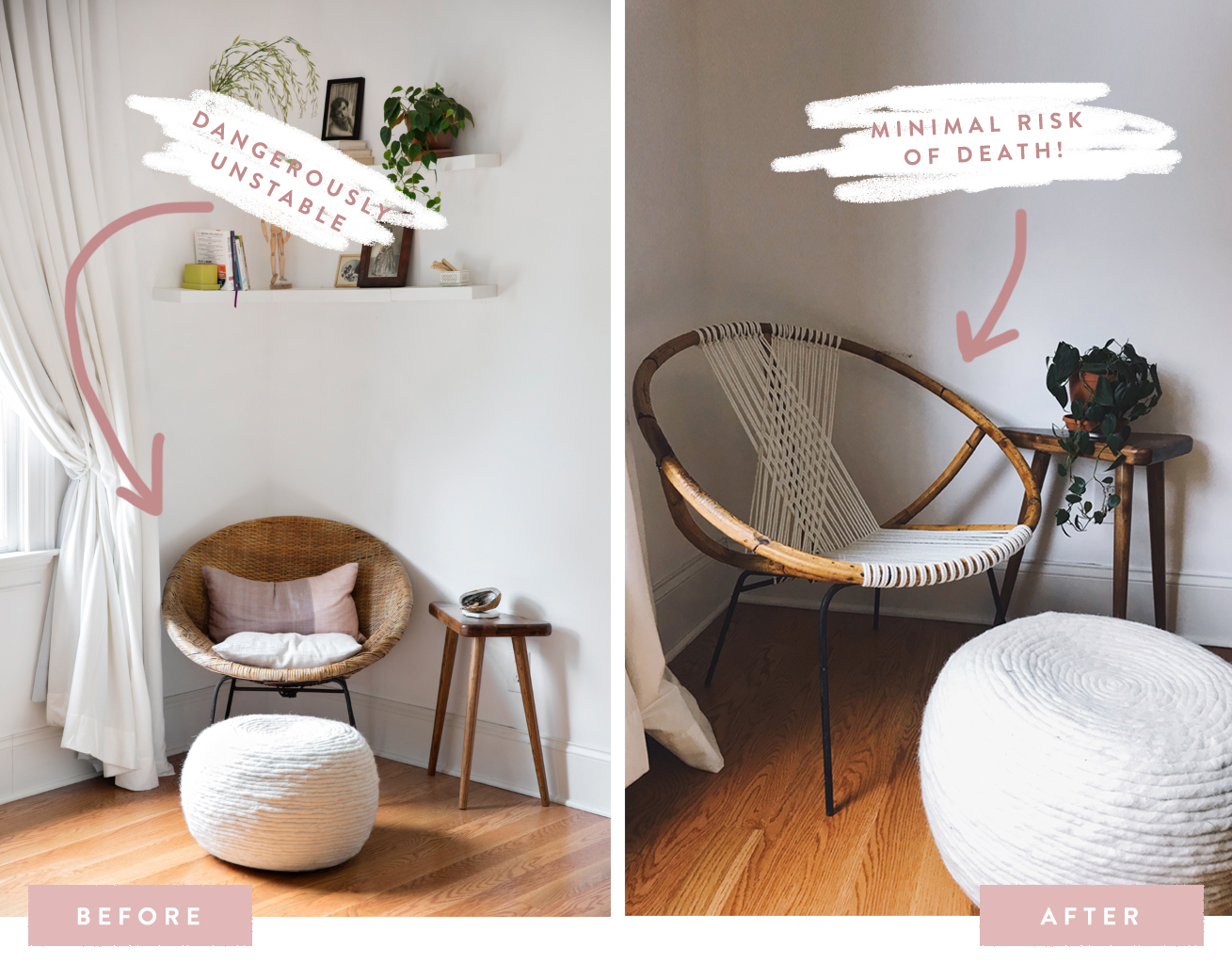 rope bottom chair target kid chairs diy how to restring a wicker hoop in 15 agonizing steps holley maher blog