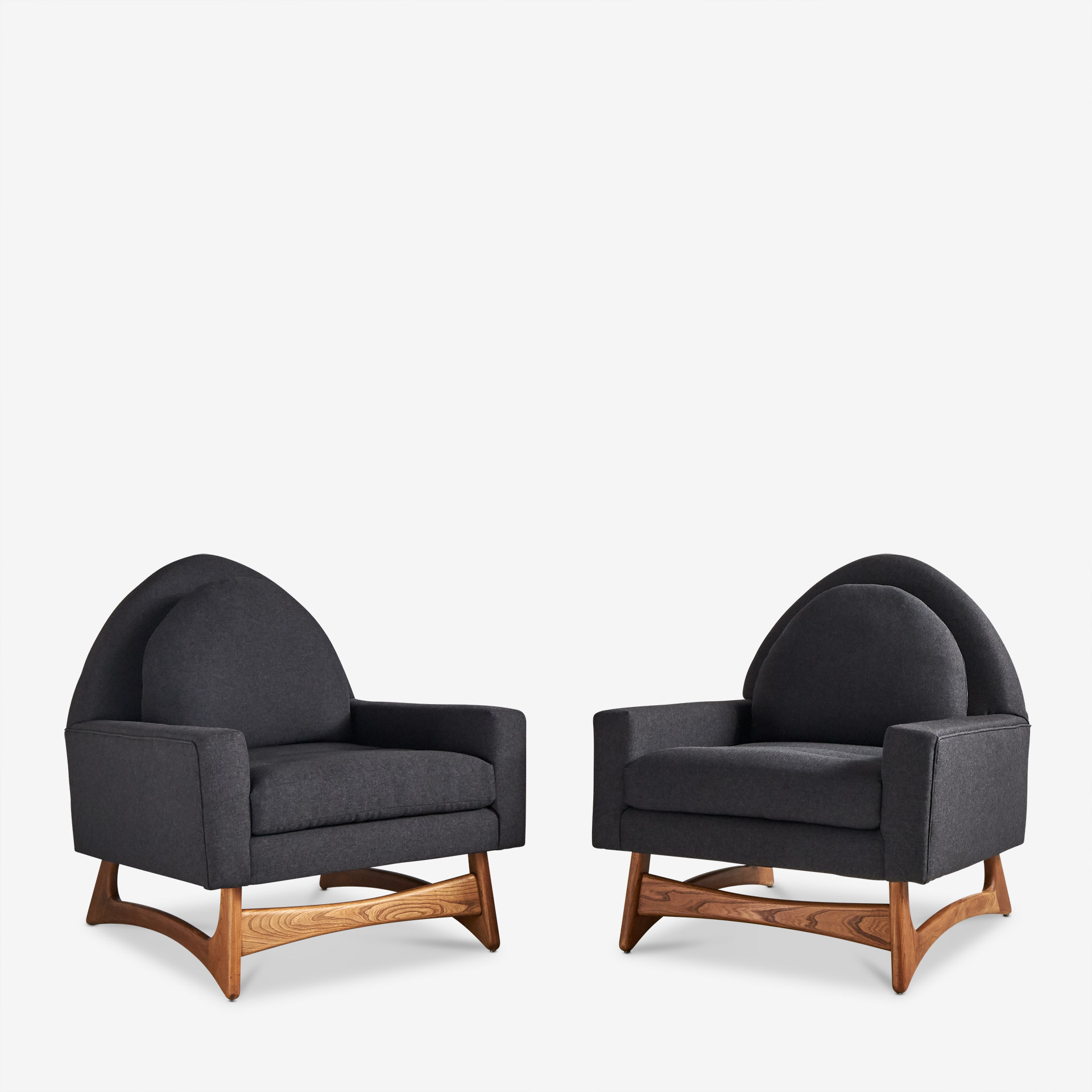 adrian pearsall chair knoll spark pair of lounge chairs attributed to south loop loft