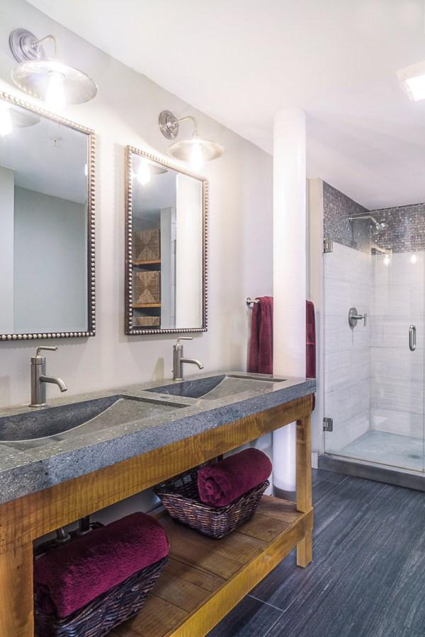 Interior Design Industrial Loft Bathroom Debbe Daley