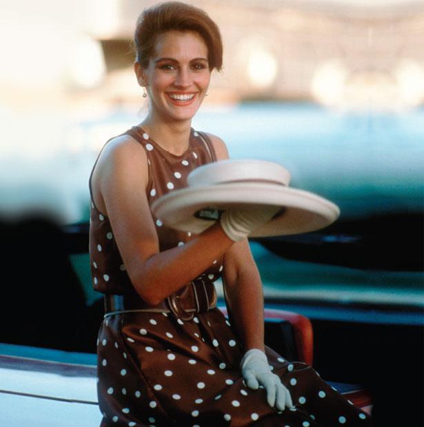 Image result for julia roberts brown polka dot dress