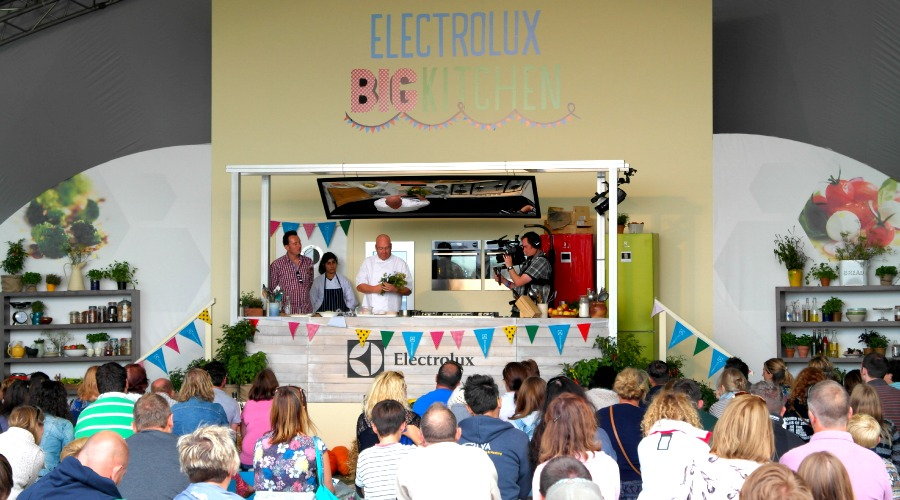 Cooking demo at The Big Feastival 2013