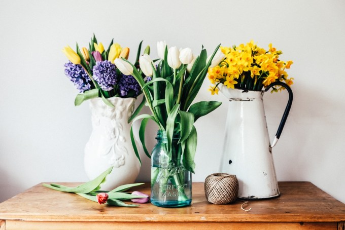 Spring on a table