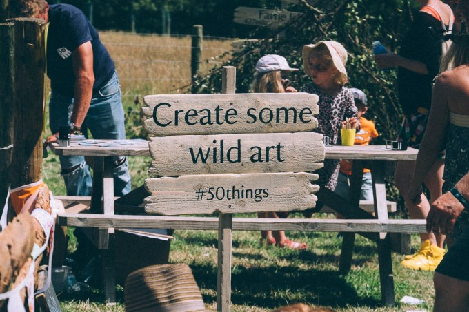 Create some wild art,NATIONAL TRUST 50 THINGS MEADOW,CAMP BESTIVAL 2015