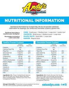 also nutritional information  andy  frozen custard ice cream rh eatandys