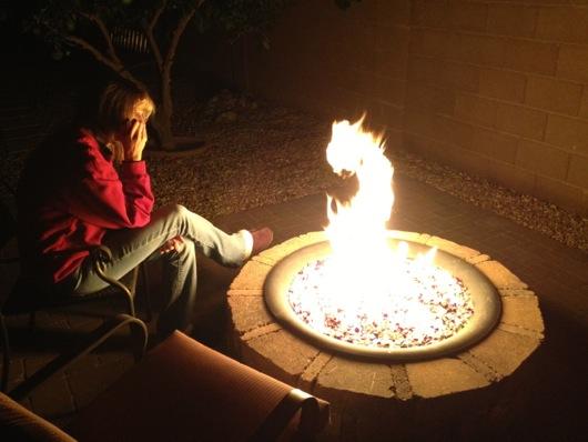 Backyard Propane Fire Pit Pavers and Outhouse Project  StuffAndyMakescom