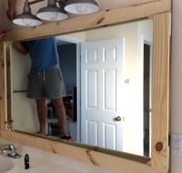 DIY Rustic Wood Mirror Frame  Tag & Tibby