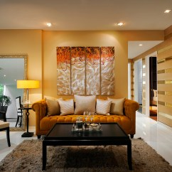 Brown Paint Living Room Walls Decor Blue Sofa Imperium — Italian Design Center Pte Ltd   Special ...