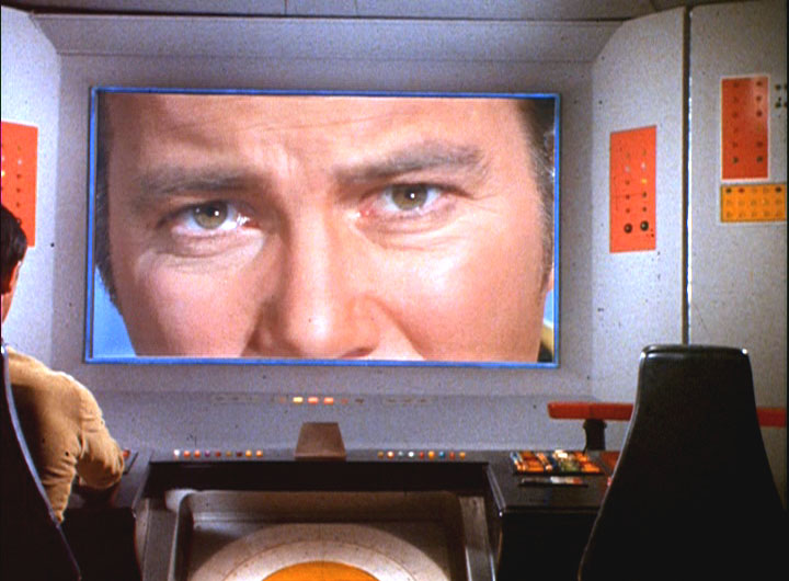 Captain Kirk is looking at you.