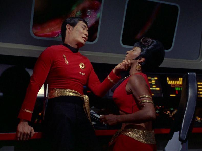 Sulu wants Uhura for something.