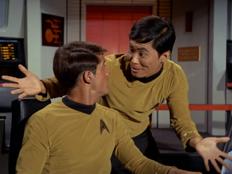 Sulu is pretty intense.