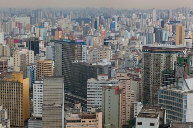 Cityscape from Edificio Italia, São Paulo, Brazil