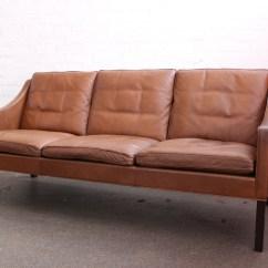 Borge Mogensen Sofa Model 2209 Shallow Ikea Three Seater Brown Leather Fredericia 3 Jpg