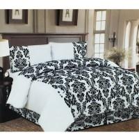 White & Black Damask 4 Pcs Bedding Set  Duvet Sets  Gift ...