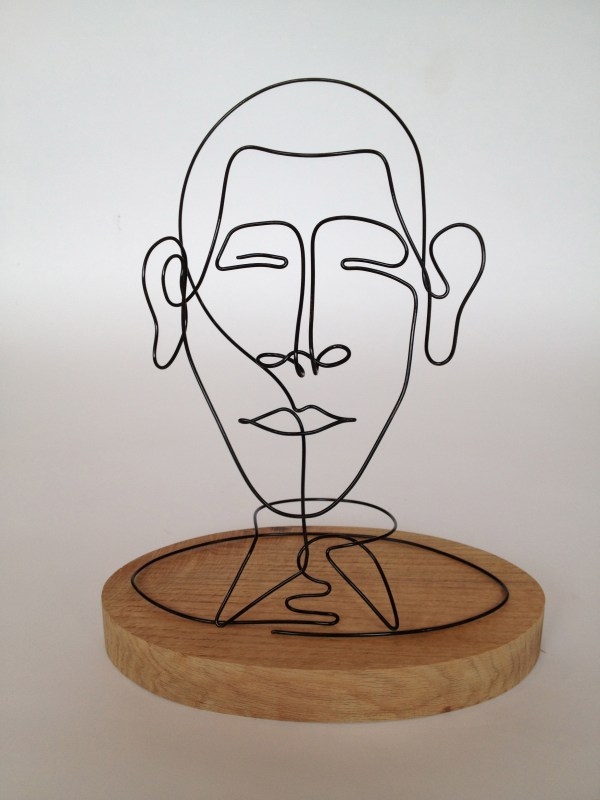 Wire Sculpture Portrait Drawing