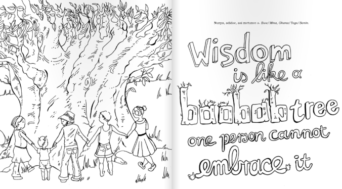 Great African Proverbs in a Colouring Book — Bino and Fino