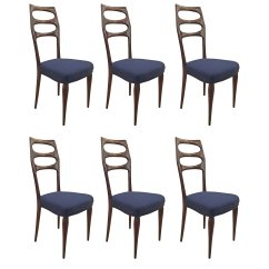 Mid Century Dining Chairs Time Out Chair With Straps Set Of Six Elegant Gaspare Asaro Italian Modern Furniture And Lighting New York Ny